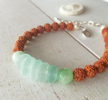 Load image into Gallery viewer, Seafoam Sea Mala - Sea Glass Bracelet