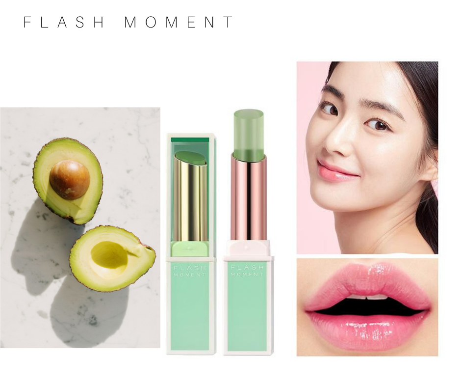 FLASH MOMENT Temperature Color Change Lipstick -  Moisturizing Avocado Jelly