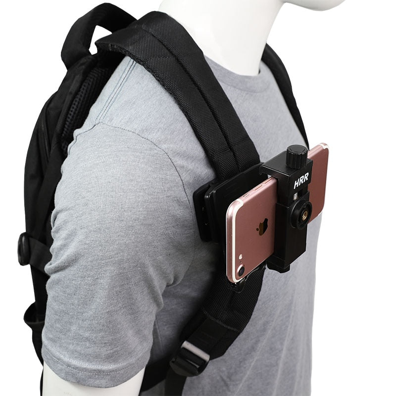 Outdoor Backpack Fixed Bracket Phone Holder for Vlogging/Video Filming