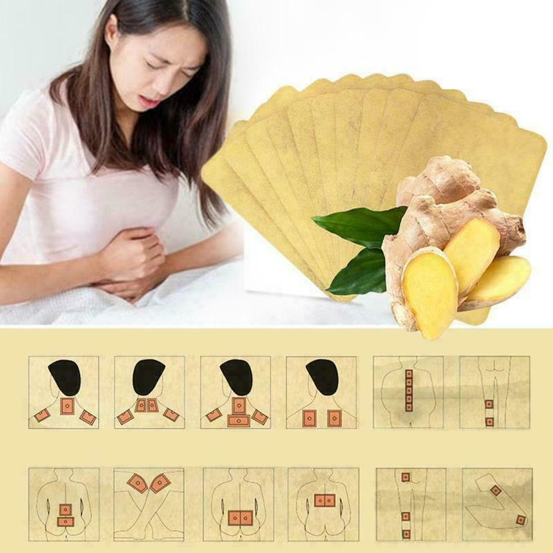 Herbal Ginger Pain Relief Care Patches - 10 pieces package