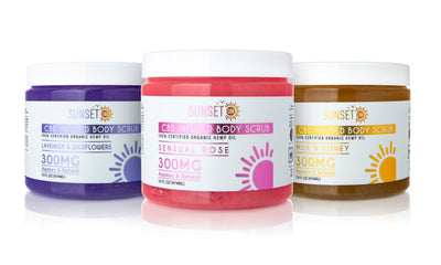 Sunset CBD Infused Body Scrubs 300MG