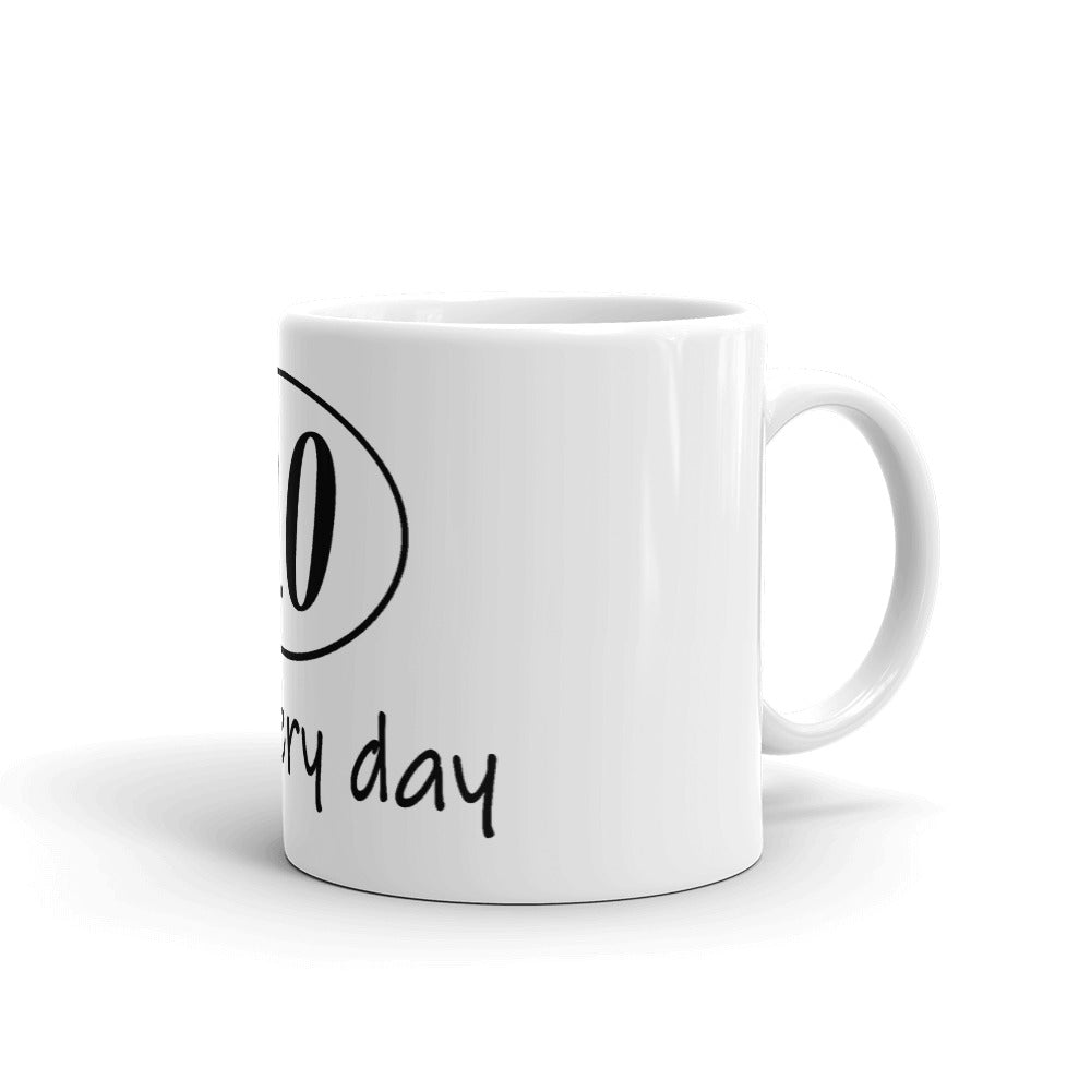 "Funny Running Mug ""0.0 Recovery Day"""