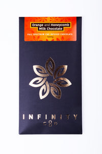 Life In Health-CBD Edibles-Infinity CBD-Gourmet Chocolate-CBD Chocolate-orange and honeycomb