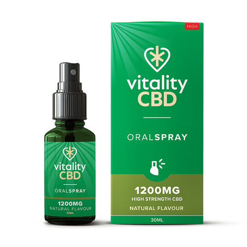 Vitality CBD Natural Flavour Oral SPRAY 1200mg 30ml