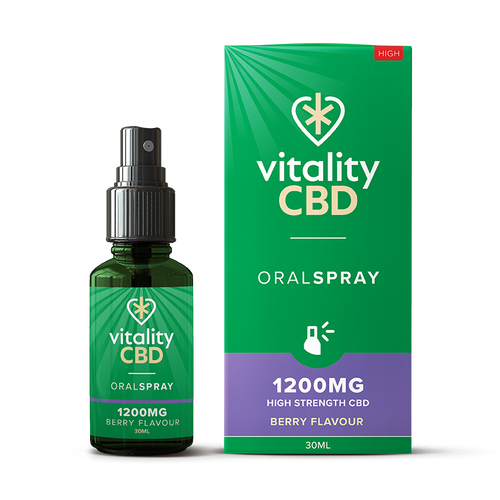 Vitality CBD Berry Flavour Oral SPRAY 1200mg 30ml