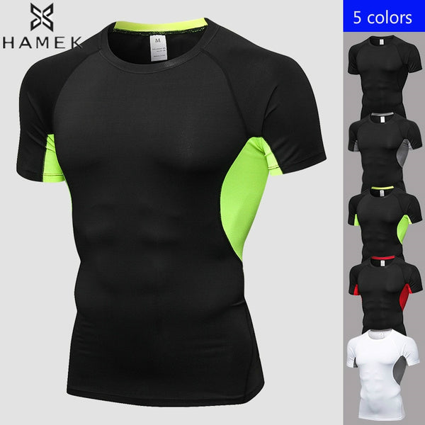 Men T-shirts Fitness Exercise Training Short Sleeved Shirts Anti Sweat Fast Dry Breathable Elastic EXCELLENT QUALITY SHJIPS FROM CHINA PLEASE ALLOW 4 TO 5 WEEKS FOR DELIVERY