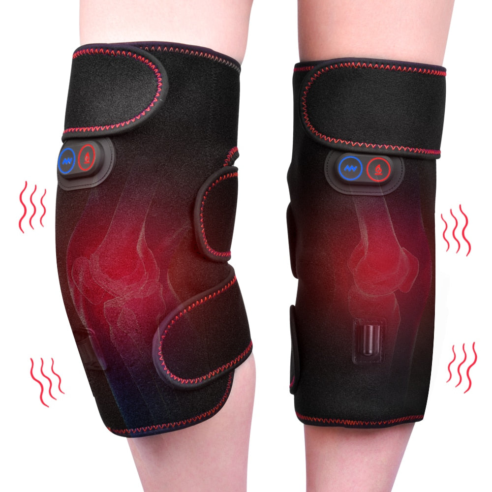Knee Heating Pain Relief Heated Knee  Brace Rechargeable Support Brace Electric Massager Adjustable Temperature FREE SHIPPING BE CERTAIN TO SELECT TWO OPTIONS SHIP FROM UNITED STATES AND SELECT US PLUG FOR DEVICE DELIVERY IN 4 TO 13 DAYS VIA USPS