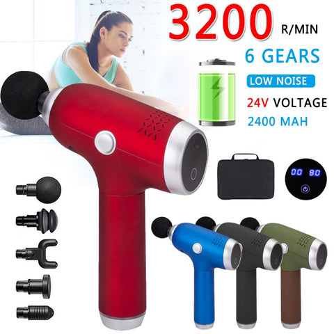 1600—3200 r/min Muscle Massage Gun Deep Tissue Massages LCD Percussion Therapy Gun Exercising Muscle Pain Relief Body Shaping FREE SHIPPING BE SURE TO SELECT SHIPS FROM THE UNITED STATES DELIVERY IN 14 TO 21 DAYS