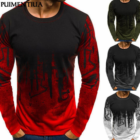 BE CERTAIN TO SELECT SHIP FROM USA EST DELIVERY 4 TO 7 DAYS Men's Fashion Slim Fit T-shirt Camouflage Print O Neck Long-sleeved Tee Male Basic Casual Workout Tops