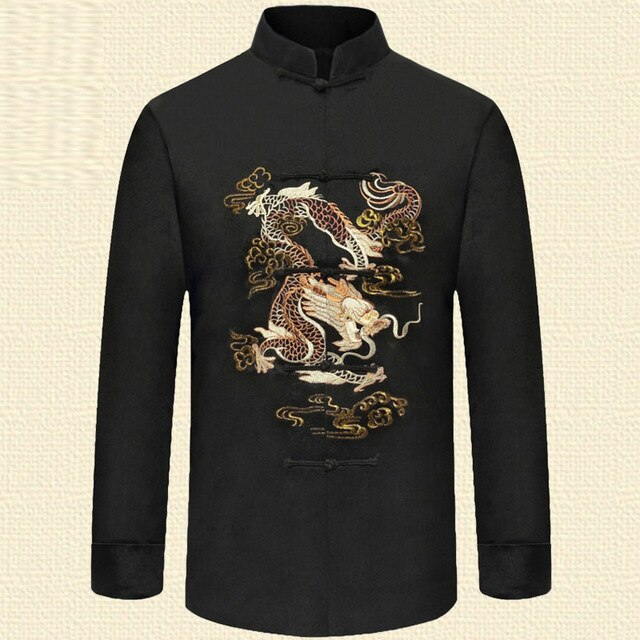 Man Wushu Tang Tops Tang Clothing  Chinese Fall Shirts Embroidery Dragon Clothes FREE SHIPPING EXCELLENT QUALITY PRODUCT SHIPS FROM CHINA PLEASE ALLOW 4 T0 5 WEEKS FOR DELIVERY