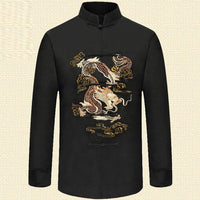 Man Wushu Tang Tops Tang Clothing Costume Chinese  Shirts Embroidery Dragon Cloth FREE SHIPPING EXCELLENT QUALITY PRODUCT SHIPS FROM CHINA PLEASE ALLOW 4 T0 5 WEEKS FOR DELIVERY