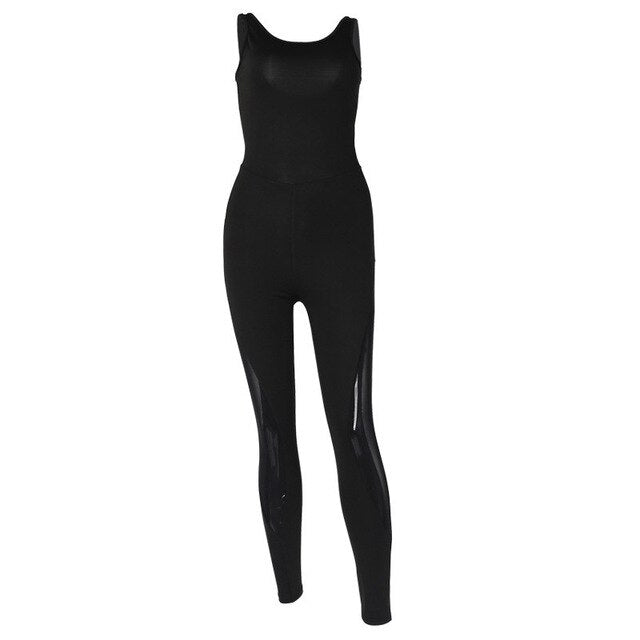 Women Yoga Jumpsuit Sexy Mesh Patchwork Back Hole Hollow Out Bodycon Slim Fitness Female Sportswear EXCELLENT QUALITY FREE SHIPPING SHIPS FROM CHINA ALLOW 4 TO 5 WEEKS FOR DELIVERY