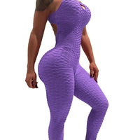 Sports Yoga Set Siamese High Waist Hips Trousers Halter Top Yoga Jumpsuit  Delivery in 4 to 13 days USPS BE CERTAIN TO SELECT SHIP FROM USA AS SHIPPING IS FREE