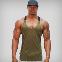 Solid Gym Men Stringer Tank Top Bodybuilding Fitness Singlets Muscle Vest Tee EXCELLENT QUALITY PRODUCT SHIPS FROM CHINA PLEAE ALLOW 4 WEEKS FOR DELIVERY