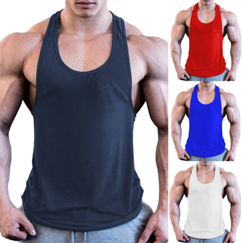 Men Muscle Sleeveless Shirt Tank Top EXCELLENT QUALITY SHIPS FROM CHINA PLEASE ALLOW 4 WEEKS FOR DELIVERY