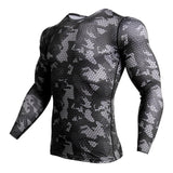 Compression Sports Shirt Men Long Sleeve Camouflage Fitness 3D Quick Dry EXCELLENT QUALITY PRODUCT SHIPS FROM CHINA PLEASE ALLOW 4 TO 5 WEEKS FOR DELIVERY