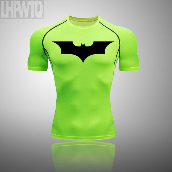 Men's Compression 2 Pcs/Set Tracksuit Batman Sports Wear EXCELLENT QUALITY SHIPS FROM CHINA PLEASE ALLOW 4 TO 5 WEEKS FOR DELIVERY