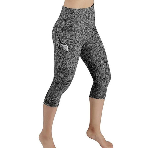 High Waist Yoga Pants with Pockets Tummy Control Yoga 4 Way Stretch Capri Leggings with Pockets  Delivery in 4 to 13 days USPS BE CERTAIN TO SELECT SHIP FROM USA AS SHIPPING IS FREE
