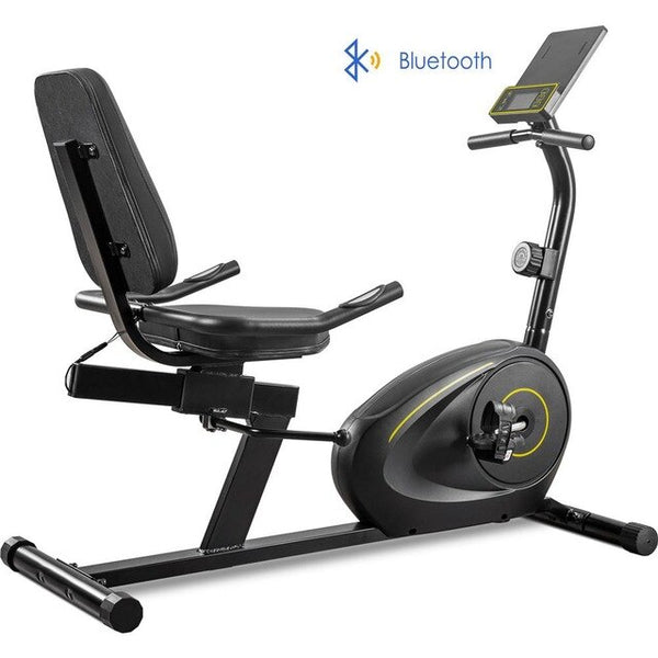 Bluetooth LCD Display Indoor Fitness Spinning Bike Cycling Gear 8 Levels Resistance Exercise Bike SHIPS FROM USA EST. DELIVERY 4 TO 13 DAYS