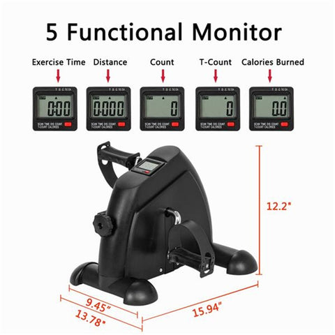 Mini Pedal Stepper Exercise Machine LCD Display Indoor Cycling Bike Stepper Apparatus For Home Office Gym FREE SHIPPING VIA USPS ALLOW 5 TO 7 DAYS FOR DELIVERY
