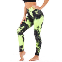 High Waist Yoga Pants Tie-dye Legging Tummy Control Butt Lifting Stretchy Leggings Textured Booty Tight BE CERTAIN TO SELECT SHIP FROM UNITED STATES DELIVERY 4 TO 13 DAYS VIA USPS