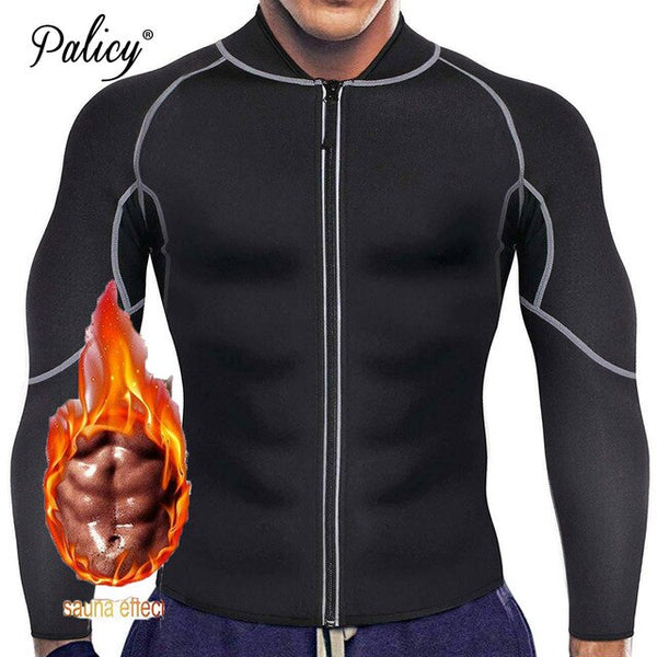 Men's Neoprene Slimming Suit Sauna Slimming Coat Long Sleeve Sweat Sauna Clothes Weight Loss Extra BE CERTAIN TO  SELECT SHIP FROM USA