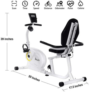 Recumbent Exercise Bike Stationary Indoor Magnetic Exercise Bicycle for Home Workout w/ 8 Resistance Levels and Adjustable Seat EXCELLENT QUALITY FREE SHIPPING DELIVERY IN 2 WEEKS