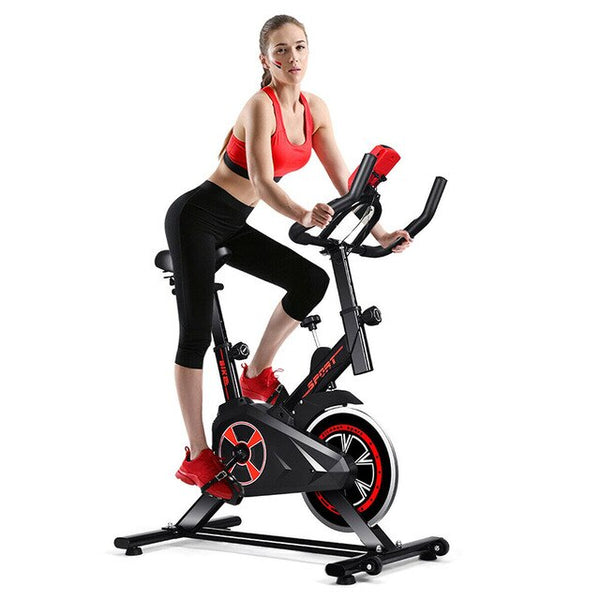 LCD Display Indoor Cycling Gym Cardio Trainer Fitness Exercise Bike Adjustable Resistance Heavy Duty Metal Bracket Bike SHIPS UPS DELIVERY 5 TO 7 DAYS