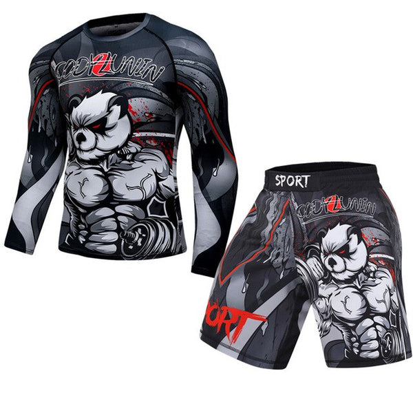 New Boxing Set, 3D Print Compression Shirt Pants, Kickboxing  Pants, Muay Thai MMA EXCELLENT QUALITY SHIPS FROM CHINA PLEASE ALLOW 4 TO 5 WEEKS FOR DELIVERY