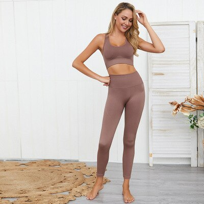 Sexy Seamless Yoga Set Sports Suit 2 Piece Exercise Leggings Sport Bra EXCELLENT QUALITY FREE SHIPPING SHIPS FROM CHINA ALLOW 4 TO 5 WEEKS FOR DELIVERY