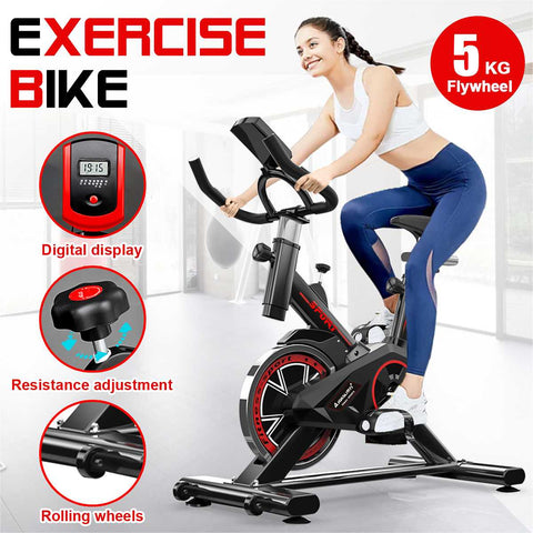 Exercise Bike with LCD monitor Home Ultra-quiet Indoor Cycling Weight Loss  Cardio Bike FREE SHIPPING BE CERTAIN TO SELECT OPTION SHIPS FROM UNITED STATES DELIVERY IN 2 WEEKS