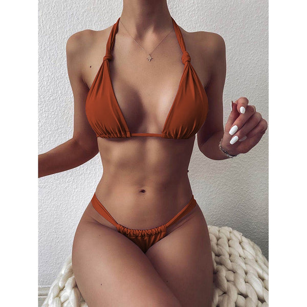 Sexy Micro Bikini 2020 Woman Swimsuit Mini Thong Bikinis Set Beachwear Halter Top Bathing Suit FREE SHIPPING EXCELLENT QUALITY PLEASE ALLOW 4 TO 5 WEEKS FOR DELIVERY