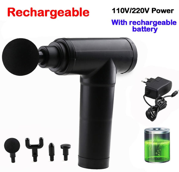 Muscle Massage Gun Rechargeable Deep Tissue Massager Therapy Gun Exercising Muscle Pain Relief FREE SHIPPING BE CERTAIN TO SELECT SHIP FROM UNITED STATES AND SELECT US PLUG DELIVERY VIA USPS 4 TO 13 DAYS