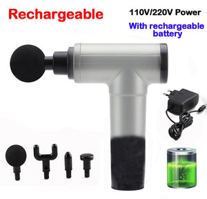 Massage Gun Rechargeable Deep Tissue Massager Therapy Gun FREE SHIPPING BE CERTAIN TO SELECT OPTIONS SHIP FROM UNITED STATES AND OPTION SELECT US PLUG DELIVERY VIA USPS 4 TO 13 DAYS
