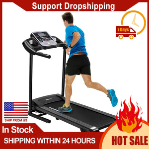 "Folding Treadmill 2.0HP Electric 15.7"" Wide Running Belt with Bottle Device Holder Easy Assembly 16 Built-in Programs Treadmill FREE SHIPPING EXCELLENT QUALITY SHIPS FROM UNITED STATES VIA FED EX DELIVERY IN 10 TO 14 DAYS"