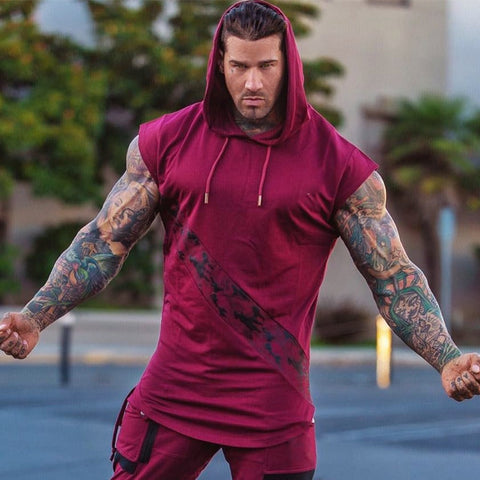Men Bodybuilding Tank Top sleeveless Hoodie EXCELLENT QUALITY SHIPS FROM CHINA PLEASE ALLOW 4 WEEKS FOR DELIVERY