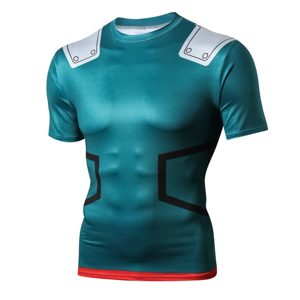3D Printing My Hero Green Valley Exercise  Fitness Apparel Sport T Shirt EXCELLENT QUALITY FREE SHIPPING SHIPS FROM CHINA ALLOW 4 TO 5 WEEKS FOR DELIVERY
