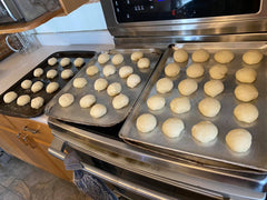 Buns on cookie sheet