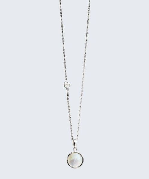 The Giving Keys - Collier Pendentif Coquillage Irisé