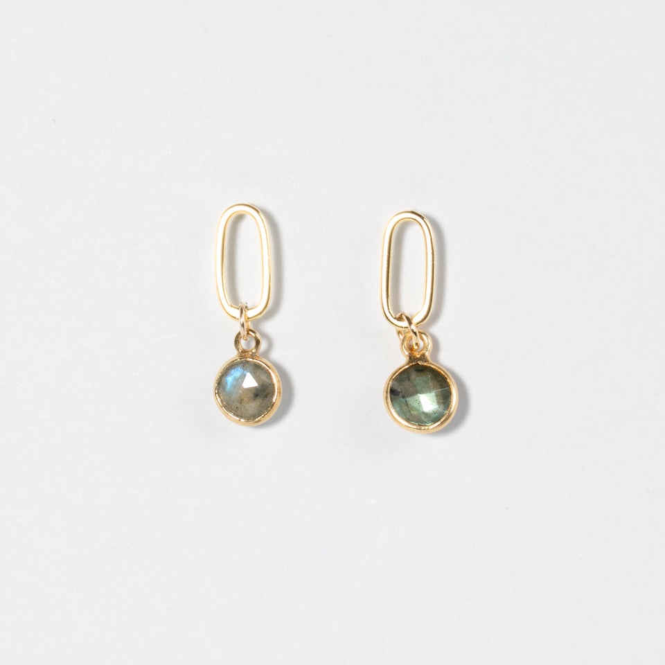 No Other Name - Boucles d'oreilles de gemmes rondes