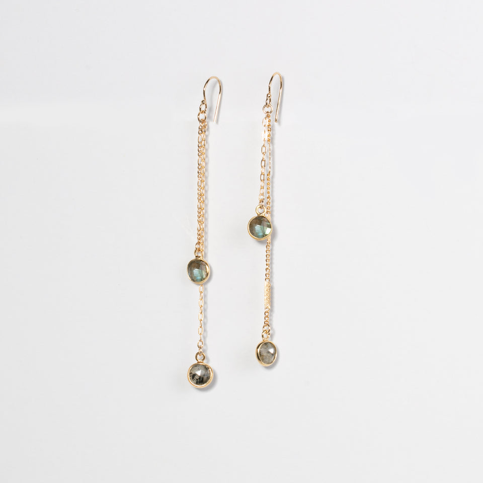 No Other Name - Boucles d'oreilles au double gemmes rondes