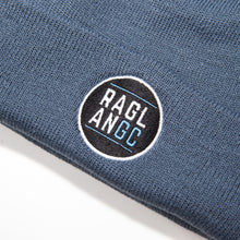 Load image into Gallery viewer, Raglan Garden Club AS Colour Cuff Beanie in steel blue with Raglan GC 2020 logo