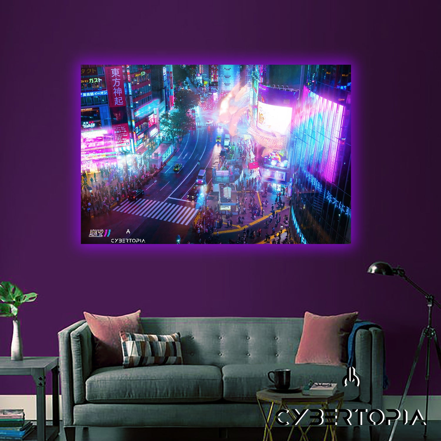 LED Canvas: AGK42- Bird's Eye View (Sold out)