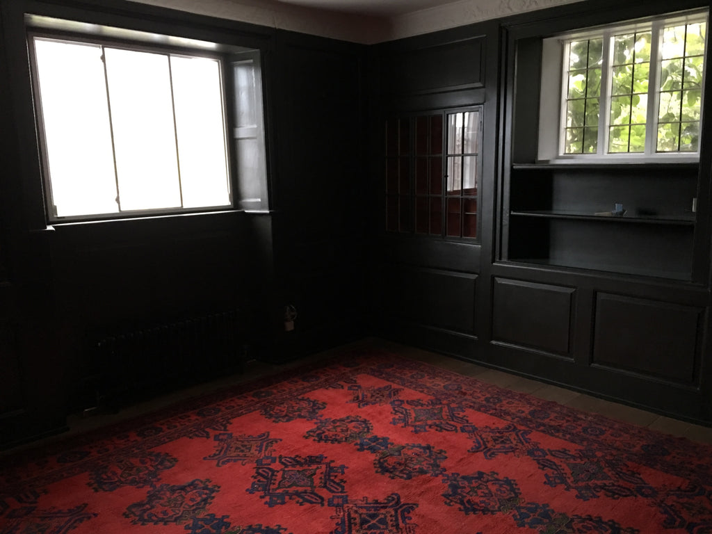 Turkish antique Oushak / Ushak carpet supplied to a Wiltshire country house