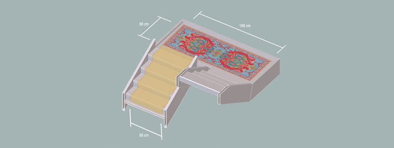 Clive Rogers Orient Rug | Stroud | London | Bespoke technical drawing
