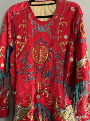 Chinese Theatre Robe In Two Parts Blouse And Skirt Early Or Mid 20Th Cent Robe