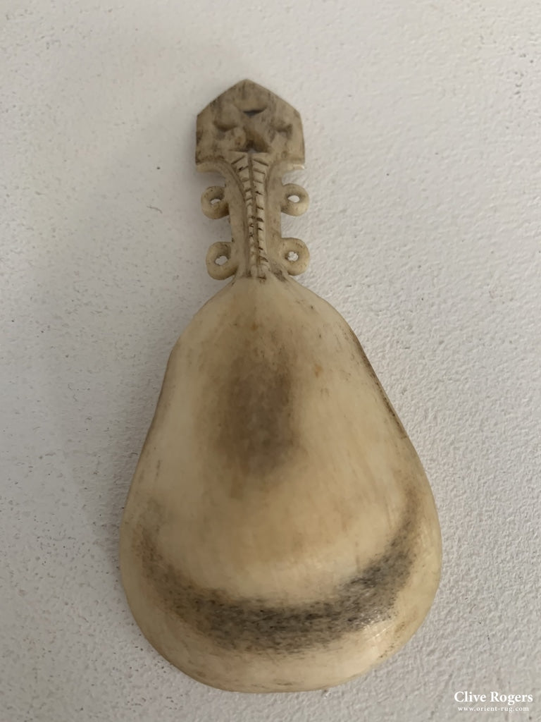 Inuit Small Bone Spoon N. Canada Spoon