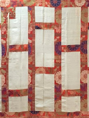 Japanese silk brocade Kesa • 19th C