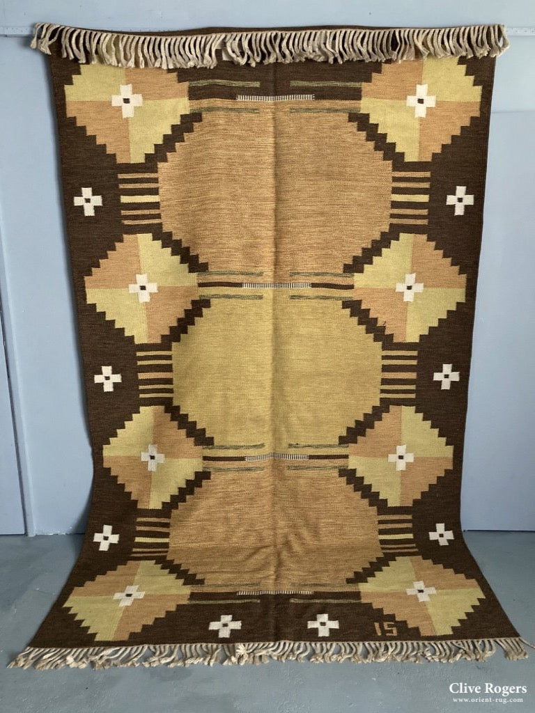 Scandinavian Designed Tapestry Carpet Probably 1960/70S Flatweave