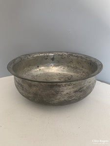 Turkish Antique Bath Bowl Tinned Copper 18/19 Cent Bowl